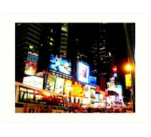 Lights of Times Square Art Print
