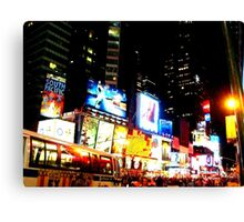 Lights of Times Square Canvas Print
