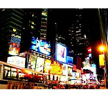 Lights of Times Square Photographic Print