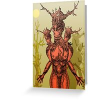 Devilish Creature Greeting Card