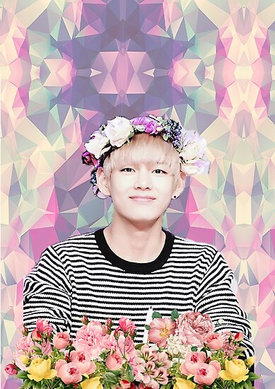 Quot bts bangtan sonyeondan flower boy kim taehyung quot posters