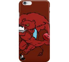 Red Lion - Maroon iPhone Case/Skin