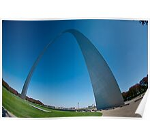 St Louis Arch - Fisheyed Poster
