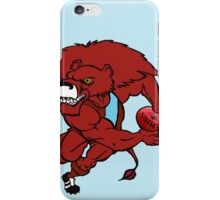 Red Lion - Light Blue iPhone Case/Skin