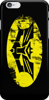 Autobats: Caped Crusaders in Disguise (iPhone 4 Case) by Malc Foy