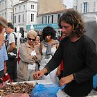 Selling shellfish, Ile de Re by graceloves