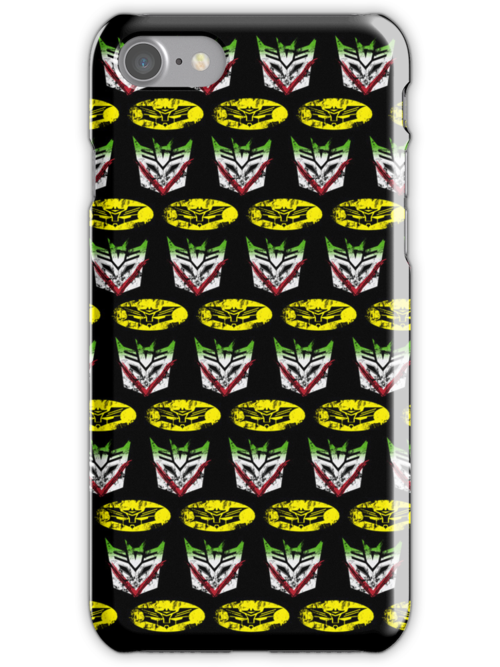 The Battle of Gotham-tron (iPhone Case) by maclac