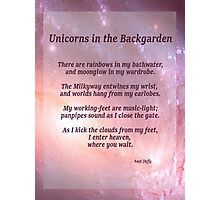 Unicorns in the Backgarden Photographic Print