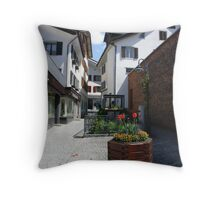 Tulip petals and Cobblestone  Throw Pillow