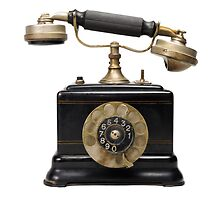 Antique dial telephone by Sami Sarkis