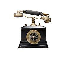 Antique dial telephone Photographic Print