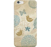 Flowers and Butterflies iPhone Case iPhone Case/Skin