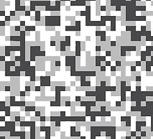 Digital Camo - Black & White by icoradesign