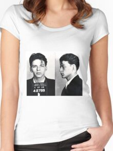 Frank Sinatra Mug Shot Women's Fitted Scoop T-Shirt