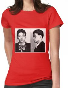 Frank Sinatra Mug Shot Womens Fitted T-Shirt