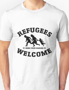 Refugees Welcome Peace Love Flüchtling T-Shirt