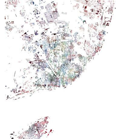 Lisbon map watercolor map Sticker
