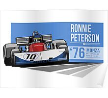 Ronnie Peterson - 1976 Monza Poster