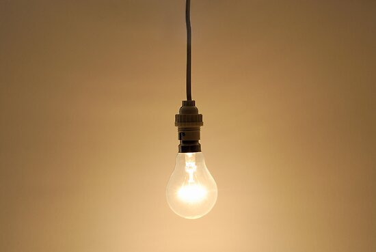 Bare hanging light bulb posters by sami sarkis redbubble - Eigentijdse hangerlamp ...