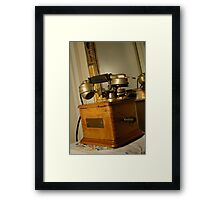 Antique Marty 1910 telephone Framed Print