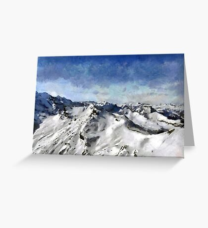 View from the Schilthorn Greeting Card