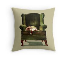 Monkey the Cat Throw Pillow