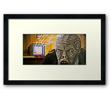 TV Zombie 2 Framed Print