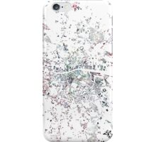 Dublin map watercolor painting iPhone Case/Skin