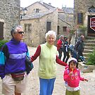 Visit of a fortified village by daffodil