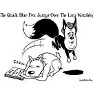 The Quick Blue Fox Jumps Over the lazy watchdog by Alex Hughes