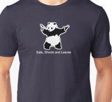 Punctuation Panda Black Unisex T-Shirt