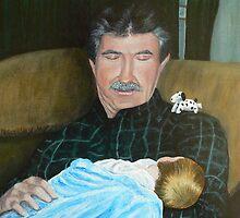 Grandpa and Grandson by Dan Wagner