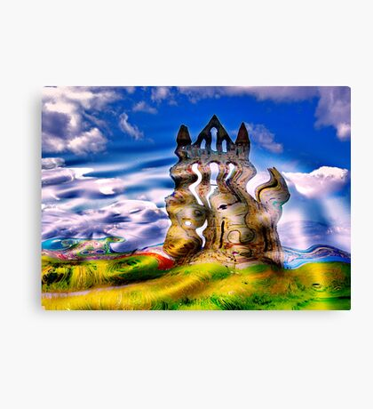 Abstract Whitby Abbey Canvas Print