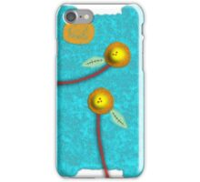 Blue Sky Yellow Flowers Landscape iPhone Case/Skin