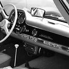 1957 Mercedes 300SL Original Owner Gull Wing - Black on Oxblood by Daniel  Oyvetsky