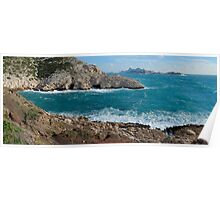 Panoramic view of Mediterranean coast, France, Marseille Poster