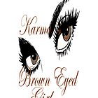 karmas brown eyed girl IPHONE CASE  by Dee-Karma-Arts