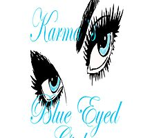 karmas blues eyed girl IPHONE CASE by Dee-Karma-Arts