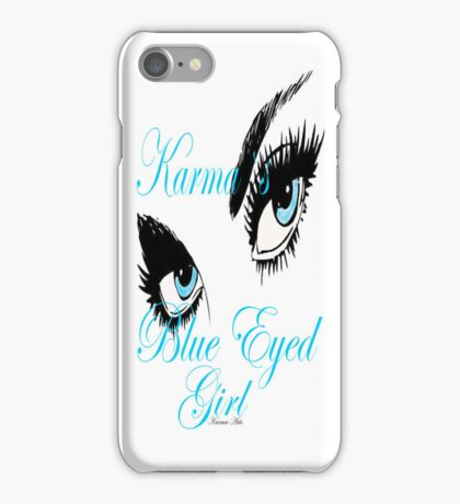 karmas blues eyed girl IPHONE CASE iPhone Case/Skin