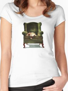 Monkey the Cat Women's Fitted Scoop T-Shirt