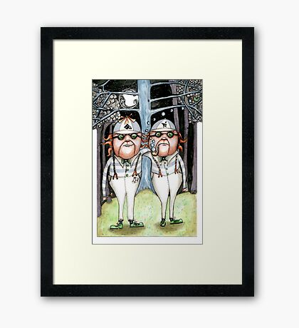 The Tweedles collaboration Framed Print