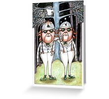 The Tweedles collaboration Greeting Card