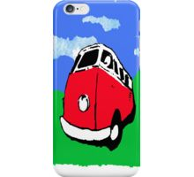 Groovy Red Van iPhone Case/Skin