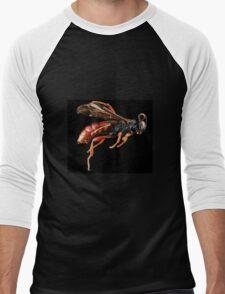 Guêpe Wasp Arthropode Macro Men's Baseball ¾ T-Shirt