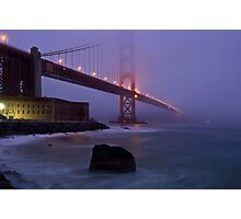 Fogged in at the Gate Photographic Print