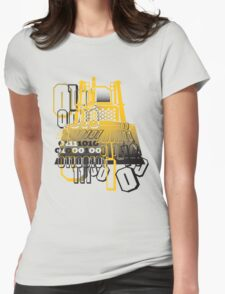 Bulldozer binary code machine design Womens Fitted T-Shirt