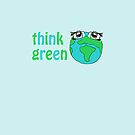 think green love the planet iphone case by faithie