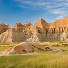 The colorful hills of Badlands National Park,Wyoming, USA by Philippe Widling