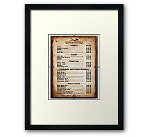 Wild West Saloon Framed Print