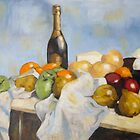 Still life with Champagne Bottle. by Darren Golding